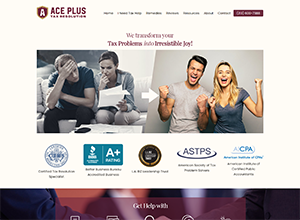 Ace Plus Tax Resolution by Accelerator Websites