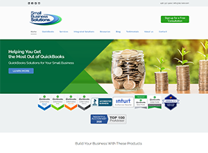 Small Business Solutions Website Screenshot