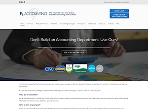 F5 Accounting Website Screenshot