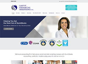 Savvy Financial Solutions, Inc. Website Screenshot