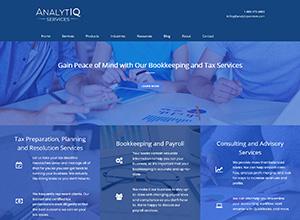 AnalytIQ Services LLC Website Screenshot