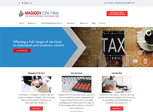 Magidov CPA Website Screenshot