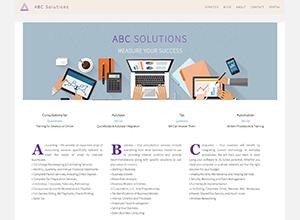 ABC Solutions, LLC Website Screenshot