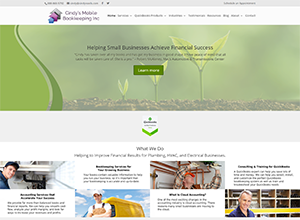 Cindy's Mobile Bookkeeping Inc Website Screenshot