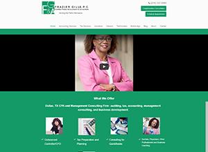 Frazier Gills, P.C Website Screenshot