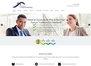 JOHNS CREEK Professional Bookkeeping Website Screenshot