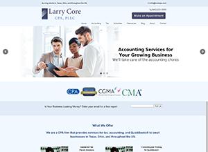 Larry Core, CPA Website Screenshot