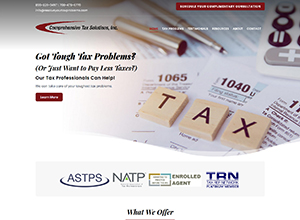 Comprehensive Tax Solutions Website Screenshot