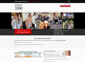 Salon 13500 Website Screenshot