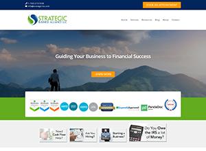 Strategic Business Alliance, LLC Website Screenshot