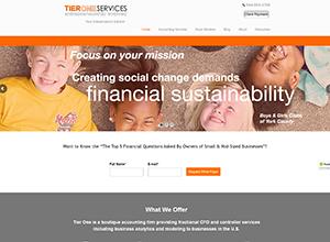 Tier One Services, LLC Website Screenshot