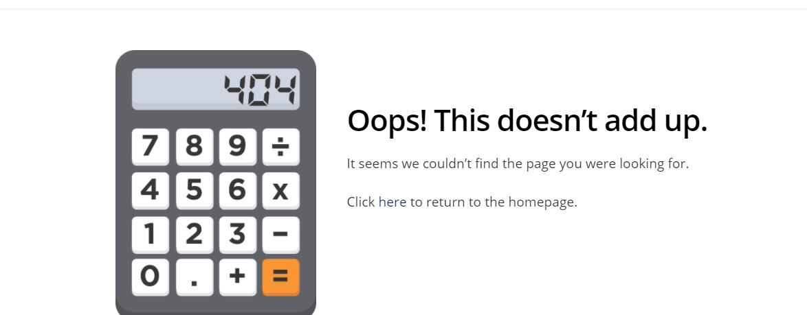 404 calculator error