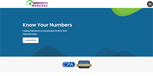 Screenshot of Websites for CPAs Mobility Theme