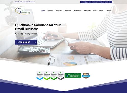 Noh Hassle Bookkeeping Website Screenshot