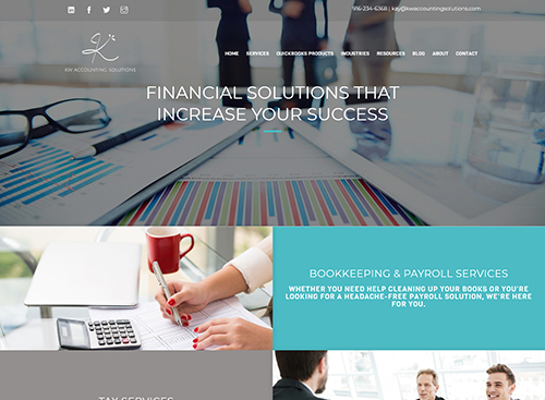 KW Accounting Solutions Website Screenshot