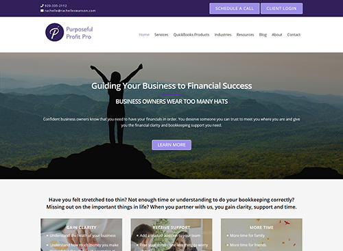 Purposeful Profit Pro Website Screenshot