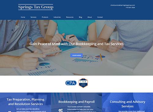 Springs Tax Group Website Screenshot