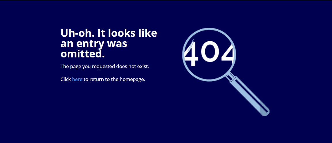uh-oh error message with magnifying glass