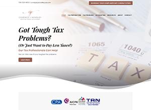 CJ Wansley CPA LLC Website Screenshot
