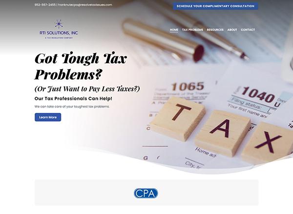 RTI Solutions, Inc Website Screenshot