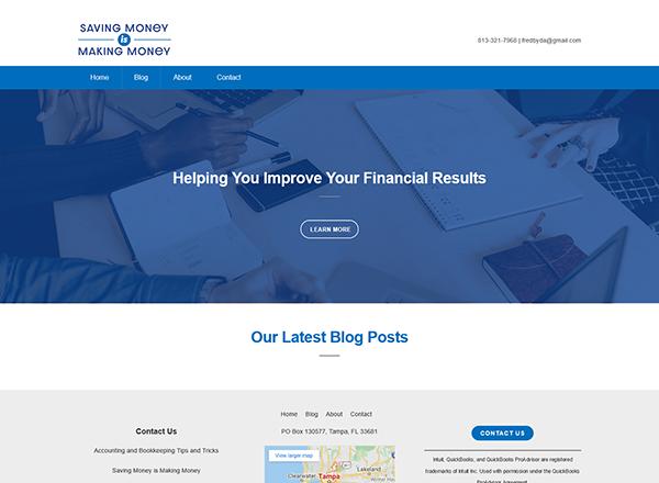 Saving Money is Making Money Website Screenshot