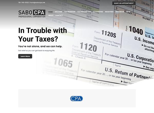 Sabo CPA, P.C. Website Screenshot