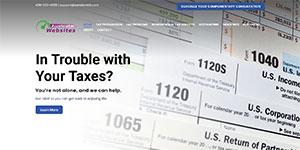 Screenshot of Tax Websites Tax Revolution Theme